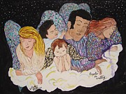 Angels Drawings Originals - Angels in Waiting by Windy Mountain