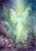 Angel  Artwork Prints - Angels Journey Print by Marina Petro