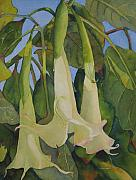 Trumpets Paintings - Angels by Judy Mercer