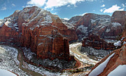 Park Scene Posters - Angels Landing View From Top Poster by Daniel Osterkamp