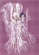 Angel Greeting Cards - Angels by Morgan Fitzsimons