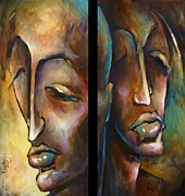 Religious Art Painting Posters - Angels of Deception Poster by Michael Lang