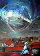 Night Angel Paintings - Angels Of Zodiac. Virgo The Virgin by Elisheva Nesis