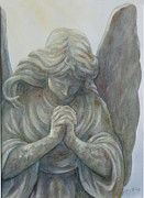 Angel Print Prints - Angels on High SOLD PRINTS AVAILABLE Print by Sandy Brindle