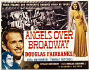 1940s Poster Art Framed Prints - Angels Over Broadway, Thomas Mitchell Framed Print by Everett