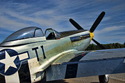Old Aircraft Prints - Angels Playmate P-51 Print by Steven Richardson
