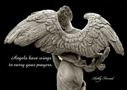 Inspirational Angel Art Prints - Angels Wings - Inspirational Angel Art Photos Print by Kathy Fornal