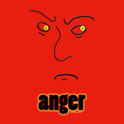 Emotions Mixed Media Prints - Anger Print by Methune Hively