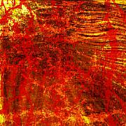 Anger Digital Art - Anger on Red by Flavio Coelho