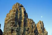 Moon Detail Posters - Angkor Thom and Moon Poster by Bill Brennan - Printscapes
