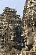 Angkor Thom Prints - Angkor Thom Faces Print by Gloria & Richard Maschmeyer
