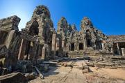 Rocky Statue Photos - Angkor Thom Landscape by Bill Brennan - Printscapes