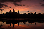 Cambodia Framed Prints - Angkor Wat at Sunrise Framed Print by Nabil Kannan