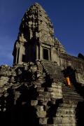 Rock Groups Photo Prints - Angkor Wat Temple Complex With Ornate Print by Paul Chesley