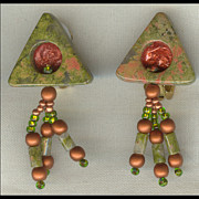 Organic Jewelry - Angle of the Dangle by Allie Hafez