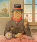 Clock Drawings Posters - Angleman07 Poster by Kestutis Kasparavicius