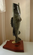 Largemouth Bass Sculptures - Angler of the Year by Dos Artesanos