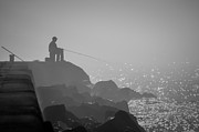 Angling In A Fog  Print by Bill Pevlor