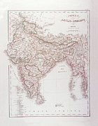 Old Map Digital Art - Anglo-indian Empire by Fototeca Storica Nazionale