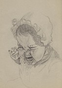 Anger Drawings Prints - Angry Print by Annemeet Van der Leij