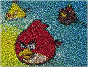 Candy Digital Art Originals - Angry Birds MM Mosaic by Paul Van Scott