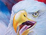 Patriotic Paintings - Angry Eagle by Brandon Sharp