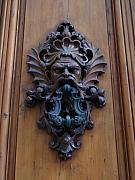 Door Knockers And Handles - Angry Gods Door by Edan Chapman