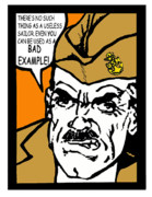 Boot Camp Digital Art Posters - Angry Navy Chief Bad Example Poster by Suzanne  Frie