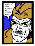 Boot Camp Digital Art Posters - Angry Navy Chief Coffee Mug Poster by Suzanne  Frie