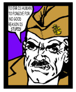 Boot Camp Digital Art Posters - Angry Navy Chief Forgive Poster by Suzanne  Frie