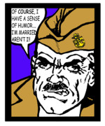 Boot Camp Digital Art Posters - Angry Navy Chief Humor Poster by Suzanne  Frie