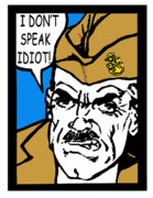 Jacksonville Digital Art Prints - Angry Navy Chief Idiot Print by Suzanne  Frie