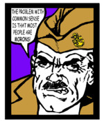 Boot Camp Digital Art Posters - Angry Navy Chief Morons Poster by Suzanne  Frie