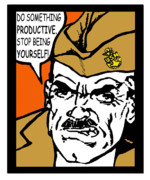 Boot Camp Digital Art Posters - Angry Navy Chief Productive Poster by Suzanne  Frie
