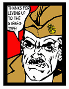 Boot Camp Digital Art Posters - Angry Navy Chief Stereotype Poster by Suzanne  Frie