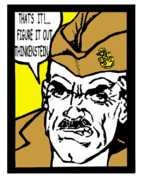 Boot Camp Digital Art Posters - Angry Navy Chief Thinkenstein Poster by Suzanne  Frie