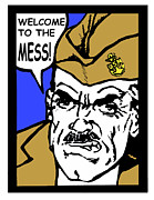 Enlisted Posters - Angry Navy Chief Welcome Poster by Suzanne  Frie