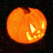 Halloween Digital Art - Angry Pumpkin by Richard De Wolfe