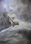 Storm Paintings - Angry Sea by Amanda Burek