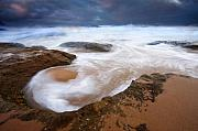 Bowl Framed Prints - Angry Sea Framed Print by Mike  Dawson