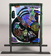 Fused Glass Art Framed Prints - Angst Framed Print by Mark Lubich