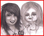 Tiffany Drawings - Angy and Tiffany Ray by Nicole  Gervais