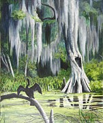 Anhinga Paintings - Anhinga by Debi Davis