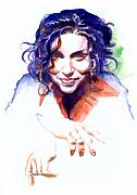 Singer  Paintings - Ani DiFranco by Ken Meyer jr