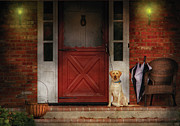 Best Friend Posters - Animal - Dog - Waiting for my Master Poster by Mike Savad