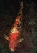 Animal - Fish - Kingyo Print by Mike Savad