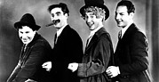 Colbw Framed Prints - Animal Crackers, Chico Marx, Groucho Framed Print by Everett