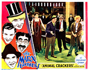 Atcmposterart Posters - Animal Crackers, Left From Top Harpo Poster by Everett