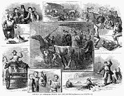 Humane Framed Prints - Animal Cruelty, 1867 Framed Print by Granger