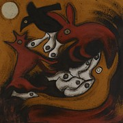 Cave Paintings - Animal Dream 1 by Sophy White